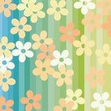 Blumen und Streifen Stockbild