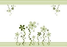 Blumen und Streifen Stockfotos