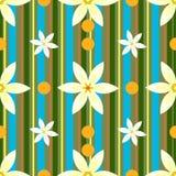 Blumen und Streifen Stockfoto