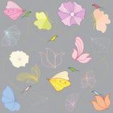 Blumen und Vögel vektor abbildung