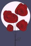 Blumen-Valentinsgruß oder Geburtstagkarte Lizenzfreie Stockbilder