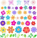 Blumen-vektorabbildung Lizenzfreie Stockbilder