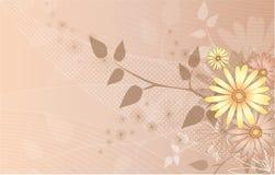 Blumen-vektorhintergrund Lizenzfreie Stockfotos