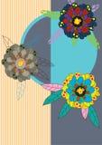 Blumen-Vogel Card_eps Lizenzfreie Stockfotografie