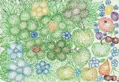 Blumen von den Bällen Stockfotos