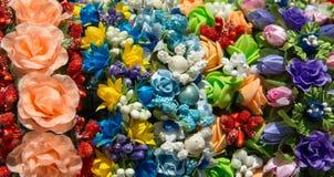 Blumen von den Geweben Lizenzfreies Stockfoto
