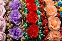 Blumen von den Geweben Lizenzfreie Stockbilder