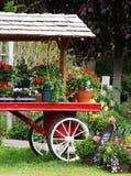 Blumen-Wagen Stockfotografie