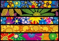Blumen-Web-Fahnen Stockfotos