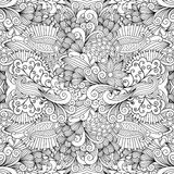 Blumen-zentangle Muster für Heiratseinladung vektor abbildung