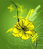 Blumenabstraktion Lizenzfreie Stockfotos