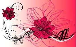 Blumenabstraktion lizenzfreie abbildung