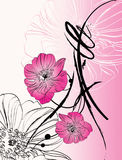 Blumenabstraktion Stockbild