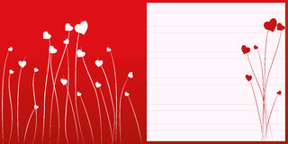 Blumenanmerkungsseite. Stockfotos