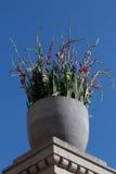 Blumenanordnung in den Farben der norwegischen Flagge, am norwegischen Parlament, an Norwegen-` s Nationaltag, 17. von Mai Lizenzfreie Stockfotografie
