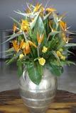 Blumenanordnung in einem Vase, Blumenanordnung Stockbild