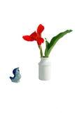 Blumenanordnung und Dekorationzubehör Stockfotos