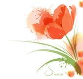 Blumenaquarellhintergrund Stockbilder