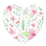 Blumenaquarellhintergrund Stockfoto