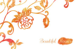 Blumenaquarellverzierung Stockbilder
