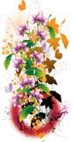 Blumenaufbau Stockfoto