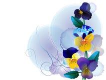 Blumenaufbau im blauen Ton Lizenzfreie Stockfotos
