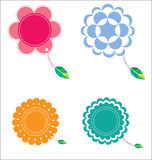 Blumenaufkleber Lizenzfreie Abbildung