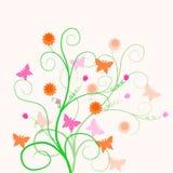 Blumenauslegung Lizenzfreies Stockfoto