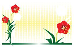Blumenauslegung 2 Stockbild