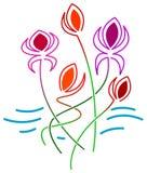 Blumenauslegung Lizenzfreie Stockfotografie