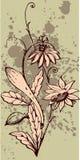Blumenauslegung Lizenzfreies Stockbild