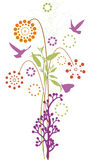 Blumenauslegung Stockfotos