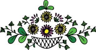 Blumenauslegung - Blätter und Blumen Stockbilder