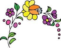 Blumenauslegung - Blumen und Blätter Lizenzfreie Stockfotos