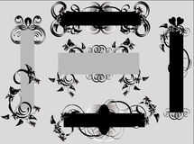 Blumenauslegung-Elemente Lizenzfreies Stockbild