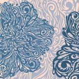 Blumenauslegung-Elementweinleseart Lizenzfreie Stockfotos