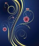 Blumenauslegung-Hintergrund Stockfoto