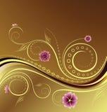 Blumenauslegung-Hintergrund Lizenzfreies Stockfoto