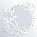 Blumenauslegung? Hintergrund, Hintergrund, Auslegung der Abbildung Spitzenpapier Schneiden Sie Papiereffekt Lizenzfreies Stockfoto