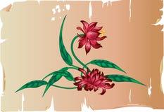 Blumenauslegungelement stock abbildung