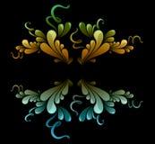 Blumenauslegungelemente Lizenzfreies Stockbild