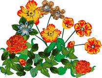 Blumenauslegungelemente Stockbild
