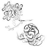 Blumenauslegungelemente Lizenzfreie Stockfotos