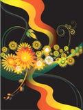 Blumenauslegungen Stockfoto