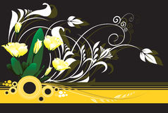 Blumenauslegungen Stockbild