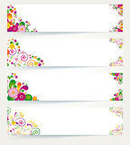 Blumenauslegungfahnen. Stockfoto