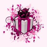 Blumenauszug mit Geschenk stock abbildung
