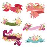 Blumenband-Fahnen stock abbildung