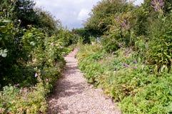 Blumenbeet des formalen Gartens Stockbild