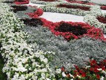 Blumenbetten Stockfoto